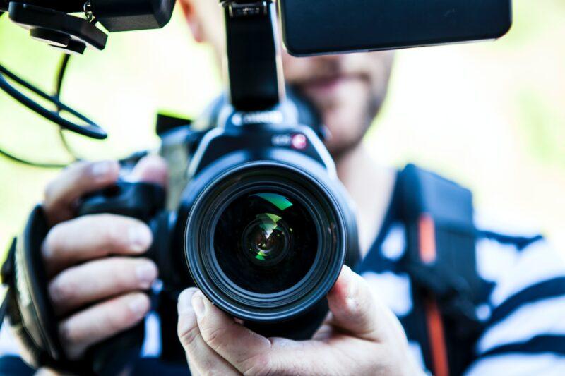 Person mit Kamera